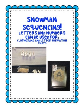 Snowman Sequencing Cards