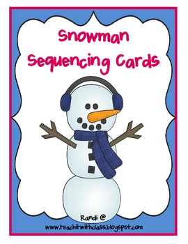 image about Sequence Cards Printable referred to as Snowman Sequencing FREEBIE