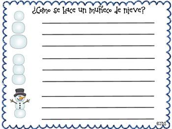 Snowman Sequencing In Spanish! (Como se hace un muñeco de nieve)