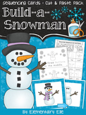 Snowman Sequencing {Pocket Chart Activity • Cut and Paste Pack}