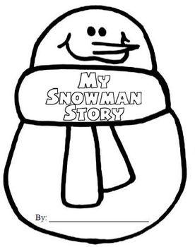 Snowman Shape Book (FREE)