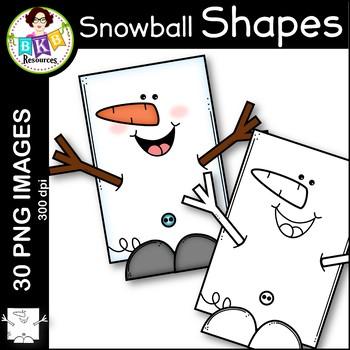 Snowman Shape Clip Art ● Shape Clip Art ● Winter Clip Art