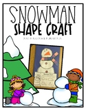 Snowman Shape Craft