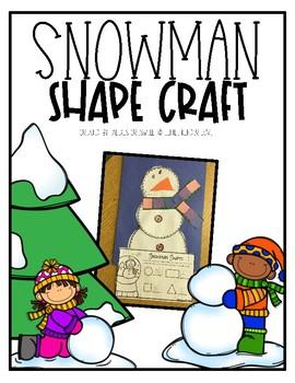 Snowman Shape Craft