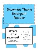 Snowman Shape Emergent Reader