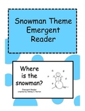 Snowman Shape Emergent Reader