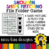 Folder Game: Snowman Shape Matching for Students with Autism & Special Needs