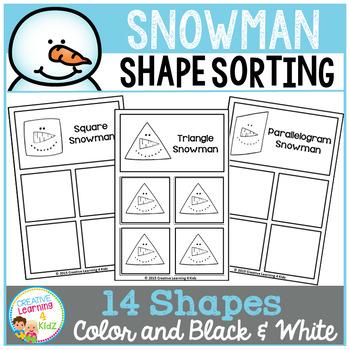 Shape Sorting Mats: Snowman