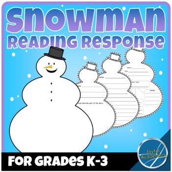 Snowman-Shaped Reading Response Sheets