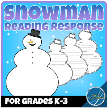 Snowman Shaped Reading Response Sheets for Any Book