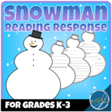 Snowman Shaped Reading Response for Any Book Grades K-3