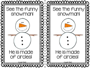 Snowman Shapes Emergent Reader & Centers