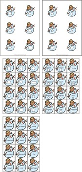 Snowman Shapes File Folder Games & Snowman Matching Games eBook