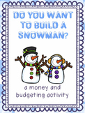 Snowman Shopping - A Counting and Budgeting Activity