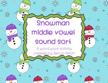 Snowman Short Vowel Sound Sort