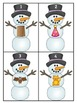 Snowman Short a CVC Word Literacy Center