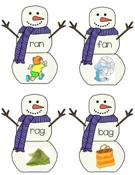 Snowman Short a Rhyming