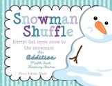 Snowman Shuffle ~Addition Math Fact Fluency Game~
