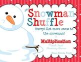 Snowman Shuffle ~Multiplication Math Fact Fluency Game~