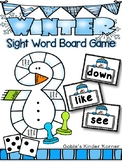 Snowman Sight Word Board Game