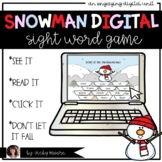 Snowman Sight Word Digital Game | Distant Learning | Editable