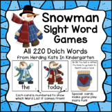 Snowman Sight Word Game