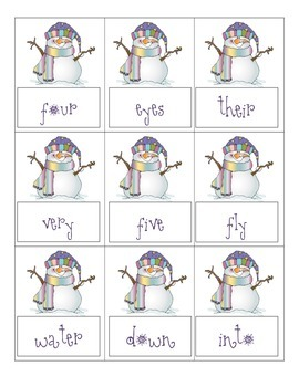 Snowman Sight Word Games