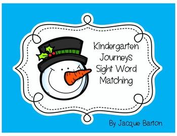 Journeys Snowman Sight Word Matching