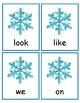 Snowman Sight Word Matching