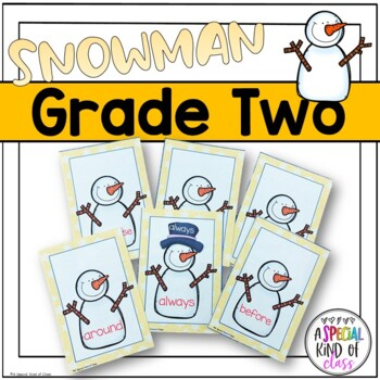 Snowman Sight Word Matching - Dolch Grade Two List