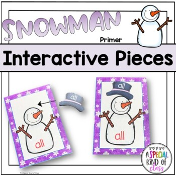 Snowman Sight Word Matching - Dolch Primer List