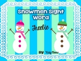 Snowman Sight Word Pack { FREEBIE }