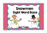 Snowman Sight Word Race