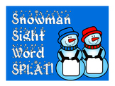 Snowman Sight Word SPLAT