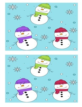 Snowman Sight Word Search- Literacy Activity