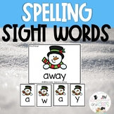 Snowman Sight Word Spelling Review Game January