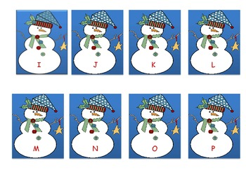 Snowman Sight Word Unit