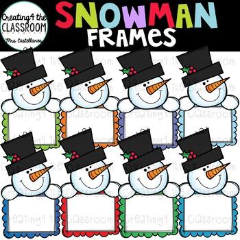 Snowman Signs Clip Art {Snowman Clip Art}