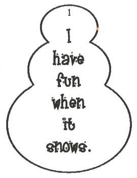 Snowman Similies
