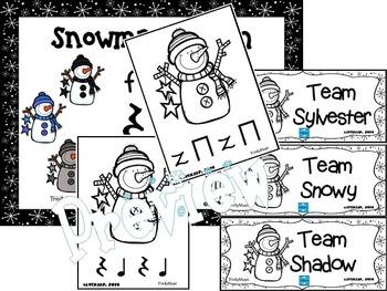 Snowman Slalom Game: Rhythm (Rest)