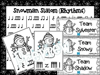 Snowman Slalom Game: Rhythm (Sixteenth Notes)