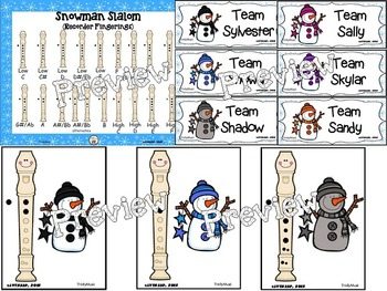 Snowman Slalom (Recorder Fingerings) Game