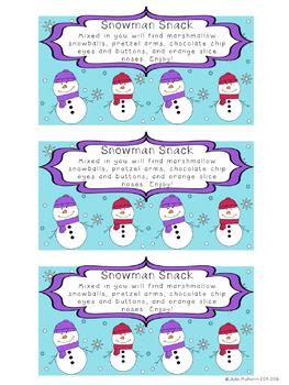 Real World Math Problems: Snowman Snack Math