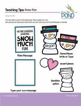 Snowman {Snow Fun} Bulletin Board Set for Winter