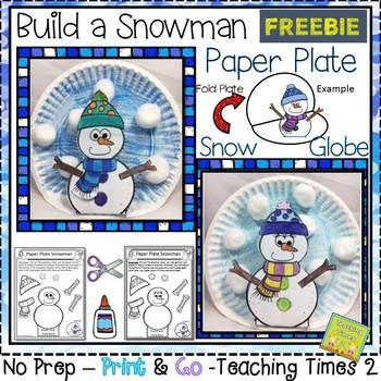 {Freebie} Snowman Snow Globe Craftivity
