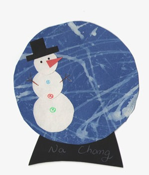 snowman snow globe template by montessori journey tpt