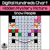 Snowman Snow People Hundreds Chart Hidden Picture Activity for Winter Math