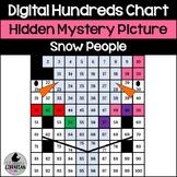 Digital Snowman Snow People Hundreds Chart Hidden Picture or Winter Math