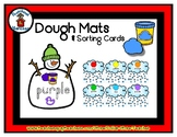 Snowman / Snow  -  Play Dough Manipulative Mats - Alphabet Numbers Colors Shapes