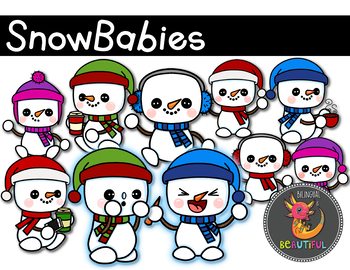 Snowman SnowBabies Clip Art